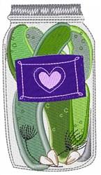 Pickle Jar embroidery design