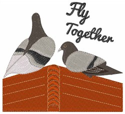 Fly Together embroidery design