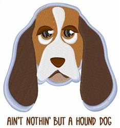Hound Dog embroidery design