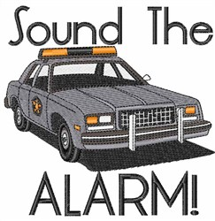 Sound the Alarm embroidery design