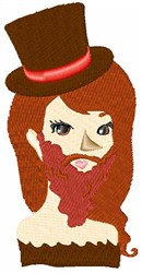 Bearded Lady embroidery design