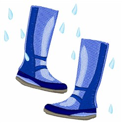 Galoshes Shoes embroidery design