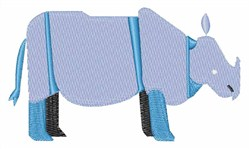 Rhino Animal embroidery design