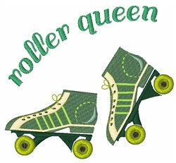 Roller Queen embroidery design