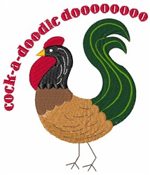 Cock-a-doodle Do embroidery design