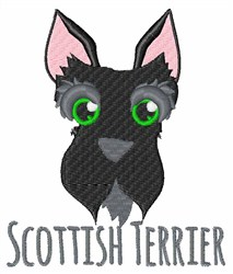 Scottish Terrier embroidery design