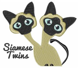 Siamese Twins embroidery design