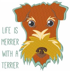 Merrier Terrier embroidery design