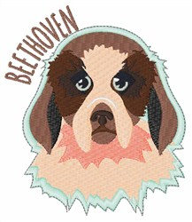 Beethoven Dog embroidery design