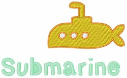 Submarine Boat embroidery design