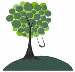 Tree Swing embroidery design