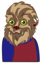 Werewolf Man embroidery design