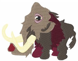 Mammoth Animal embroidery design