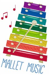Mallet Music embroidery design