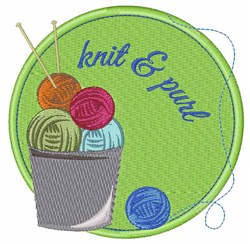 Knit & Pure embroidery design