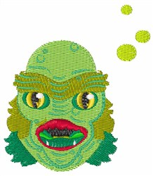 Alien Monster embroidery design