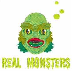 Real Monsters embroidery design