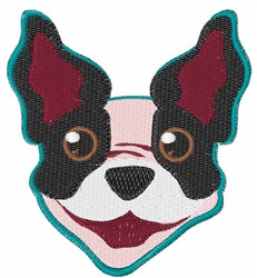 Terrier Head embroidery design