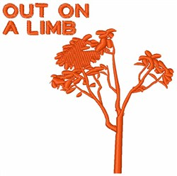 Out on a Limb embroidery design