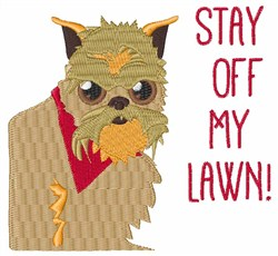 Off My Lawn embroidery design