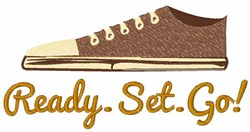 Ready Set Go embroidery design