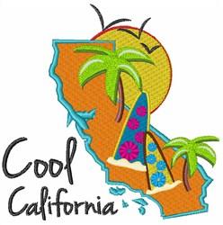 Cool California embroidery design