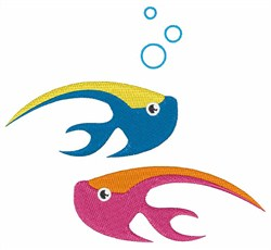 Water Fish embroidery design