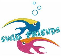 Swim Friends embroidery design