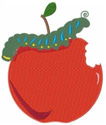 Caterpillar Apple embroidery design