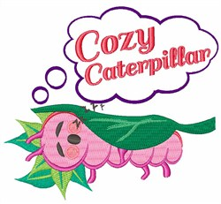 Cozy Caterpillar embroidery design
