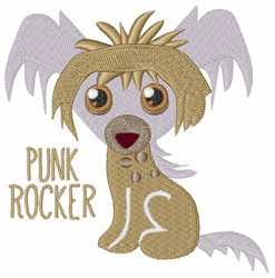 Punk Rocker embroidery design