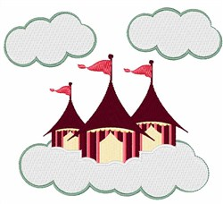 Circus Clouds embroidery design