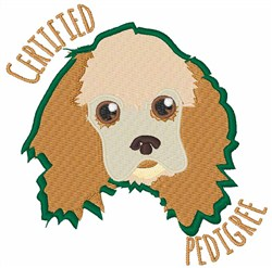 Certified Pedigree embroidery design