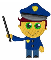 Police Man embroidery design