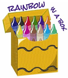 Crayon Rainbow embroidery design