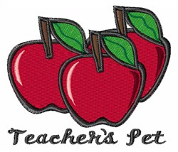 Teachers Pet embroidery design