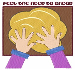 Feel The Knead embroidery design