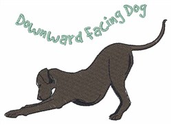 Downward Dog embroidery design
