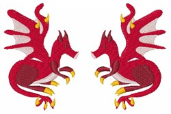 Twin Dragons embroidery design