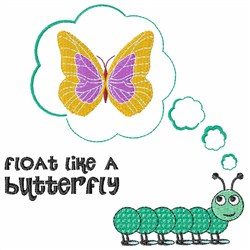 Butterfly Float embroidery design