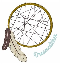 Indian Dreamcatcher embroidery design