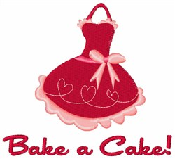 Bake A Cake embroidery design