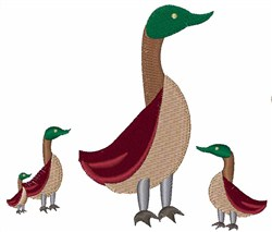 Mallard Family embroidery design