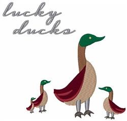 Lucky Ducks embroidery design