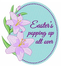 Easters Popping Up embroidery design