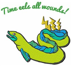 Time Eels embroidery design