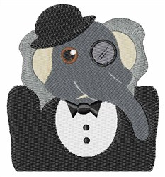 Elephant Detective embroidery design