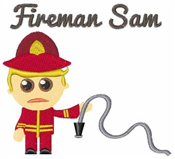 Fireman Sam embroidery design