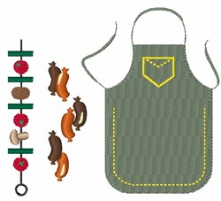 Grilling embroidery design