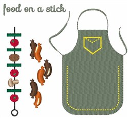 Food On A Stick embroidery design